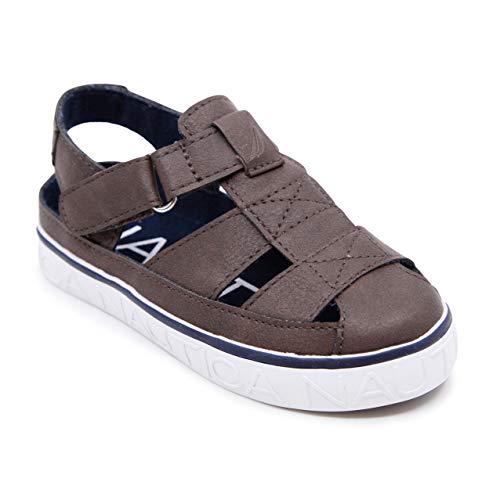 Nautica Kids Mikkel Closed-Toe Outdoor Sport Casual Sandals-Mikkel 2-Bark-10