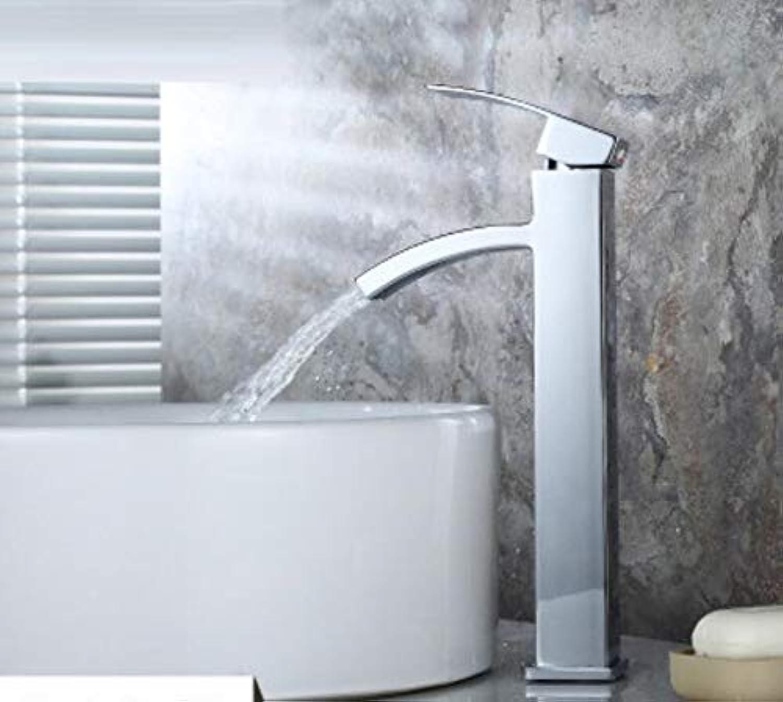 Wasserhahn Waschbecken Kupfer Echter Hoher Hahn Heies Und Kaltes Becken Becken Wasserhahn Einloch-Waschbecken über Dem Mischbecken Wasserhahn