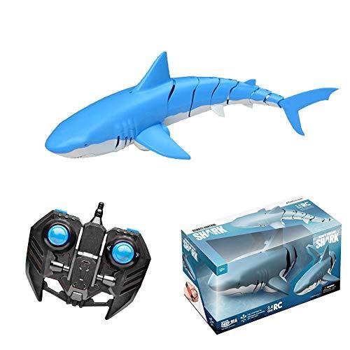 Unterwasserfernbedienung Spielzeug Hai Hai Electric Simulation Great White Shark Wireless Wasser U-Boot-Modell Spielzeug Kinderfernbedienung Bootsbad Elektrische Boot...
