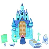 JOY STORIES Battery Operated Doll House for Girls | Pretend Play Princess Beauty Castle with Dolls, Furniture & Accessories Frozen Princess Castle Toy Set