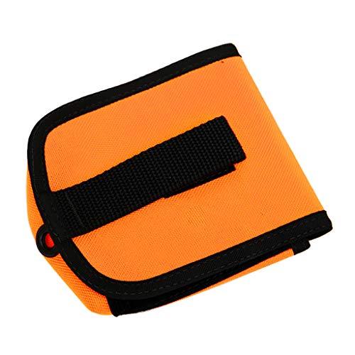 Luckyshuai Pollo de Bolsillo de Buceo Duradero Pollo de Plomo Placa Posterior 2kg Bolsa de cinturón Paquete (Color : Orange)