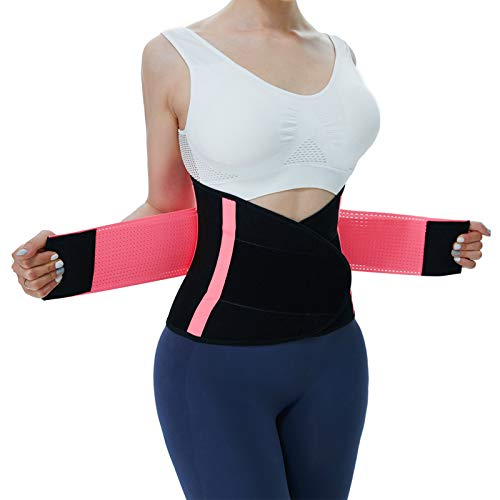Jueachy Waist Trainer for Women Breathable Waist Trimmer Belly Band Stomach Shaper for Women