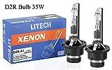Litech D2R HID Bulb 85126 4300K 35W Standard Replacement HID Xenon Headlight Bulb (Pair)