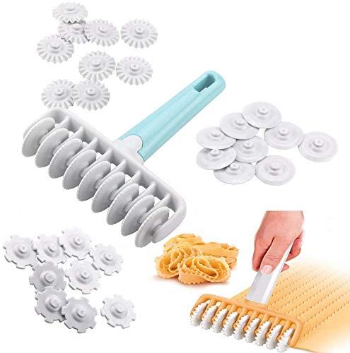 WENTS Rodillo de plástico para Rombos Herramienta de panadería de Cocina Panaderia Masa de Tarta Craft Entramado Hojaldre Cortador Roller Pasteles de la Galleta del Cortador del Enrejado 37PCS