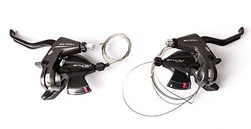 Nicht Zutreffend Shimano Altus Fahrrad Schalt-Bremshebel 3-Fach Links 1250mm + Schalt-Bremshebel 9-Fach rechts 1800mm