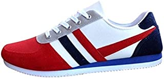 Men's Lace Up Outdoor Shoes Sports Loafers Casual Sneakers Flat Canvas Shoes
