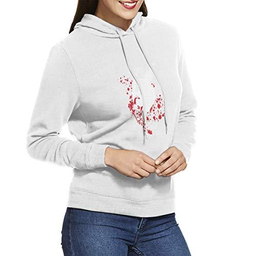 Gintamade Sudaderas de anime para mujer Akame Ga Kill Logo Pullover con capucha Outwear Blanco blanco XXL