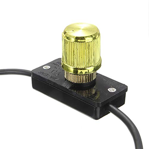 Wnuanjun 1 UNID 120 Volt 500W Light Dimmer Interruptor de Rotary Dimmer Ajustable Lámpara Dimmer Lámpara Interruptor Controlador de Interruptor de latón para ZE-256 Oreja Zing