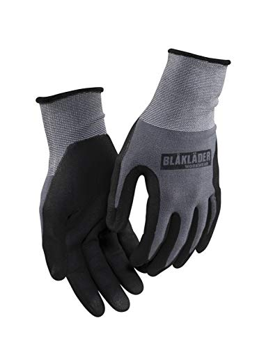 Blakläder 22711049600211 Mechaniker-Handschuhe Größe 11 12er-Pack in schwarz/grau, Black/Gray
