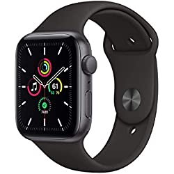2020 Apple Watch SE (GPS, 44 mm) Cassa in alluminio grigio siderale con Cinturino Sport nero
