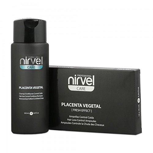 Pack Control Caída Placenta 10 Ampollas + Champú 250 ml. Nirvel