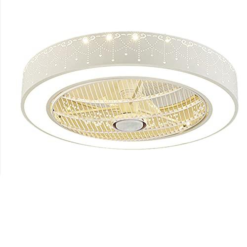QEGY 50CM Moderno Ventiladores de Techo con Luz, 80W LED Lámpara de Techo Ventilador con Regulable, Velocidad del Viento Ajustable, Redonda Luz de Techo Fan para Guardería Dormitorio