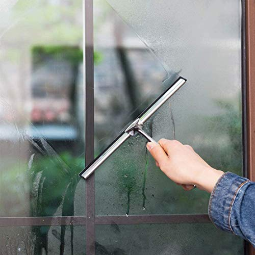 Sweetums Signatures Shower Window Squeegee, 10 Inch Silicone Blade...