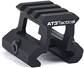 """AT3 Tactical PRO-Mount Mini Riser Mount - 0.83"""" - for RD-50 Red Dot Sight & Any Picatinny/Weaver Scope"""