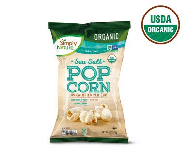 Best Deals! Simply Nature USDA Organic Gluten-Free Whole Grain Sea Salt Popcorn - 6 oz. Bag