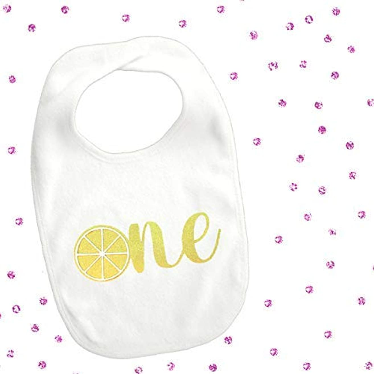1 piece lemon citrus one bib toddler boy girl for first birthday summer fruit cake smash photo prop lemonade tutti fruity