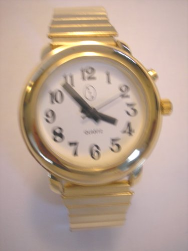 Ladies Deluxe Talking Wrist Watch Gold Tone for Low Vision or Blind
