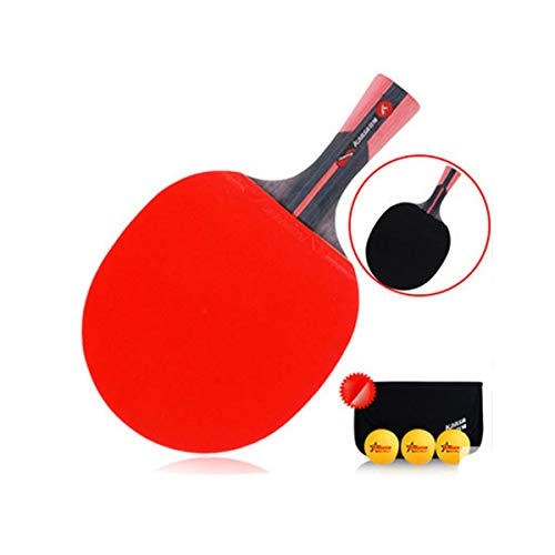 Affordable HUIJUNWENTI Table Tennis Racket, Suitable for Outdoor Sports and Fitness Rackets, Carbon ...