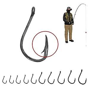 300 Fishing Hooks Freshwater Fishing Hook Assortment - Small Fishing Hooks & Medium Fishing Hooks Pack – High Strength Carbon Steel Hooks – 300 Hooks for Fishing Hook Set Hooks Fishing Hook Kit