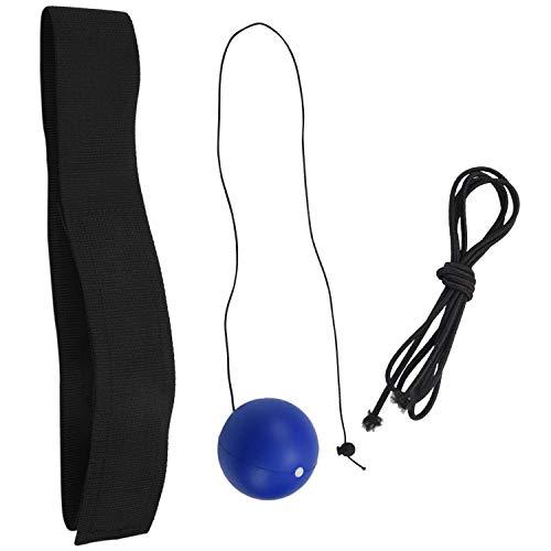 Pelota de combate de boxeo con diadema, perfecta para la reacción, entrenamiento de coordinación de ojos y mano, pelota de reflejos portátil