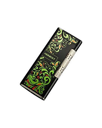 【WDMART】 葉巻ライター ガスライター メタルライター 充填式ライター 注入式ライター 超薄型 軽量 無料贈呈着火石3粒 タバコケースに入れることができます (ガスを含んでいません) (WDMART-0040-C)