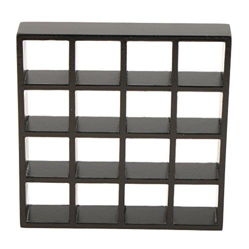 1/12スケール ドールハウス ミニチュア 家具 スシェルフモデル ディスプレイ 棚 2カラー選ぶ - ブラック