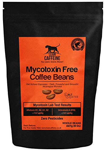 avis thé sans pesticide professionnel Grains de café pare-balles 227g |  Sans pesticides / mycotoxines |  Caféine maigre dans les grains de café…