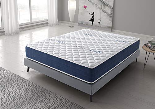 Living Sofa Colchón Reversible 150x200 cm Real Confort | Altura +/- 25 cm | Doble Cara Invierno/Verano con Sistema Visco Soft Adaptable | Alta Densidad | Sistema multicapas | 9 Zonas de Descanso 🔥