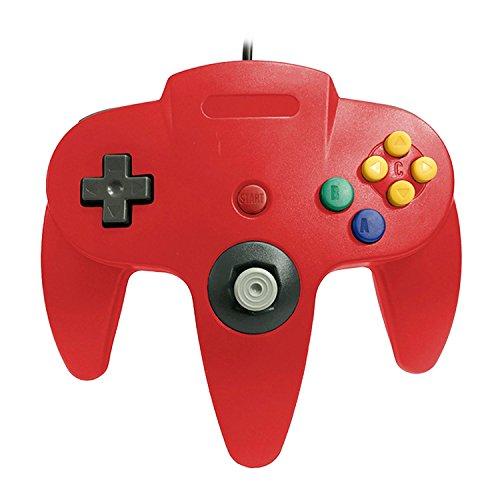 Sopear Controller für Nintendo, Gamepad Controller Joystick für Nintendo N64 Console Game Zubehör Rote