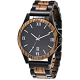 Retro Natural Wooden Watch for Mens Gift Watch Wrist Watches Bamboo Wooden Box