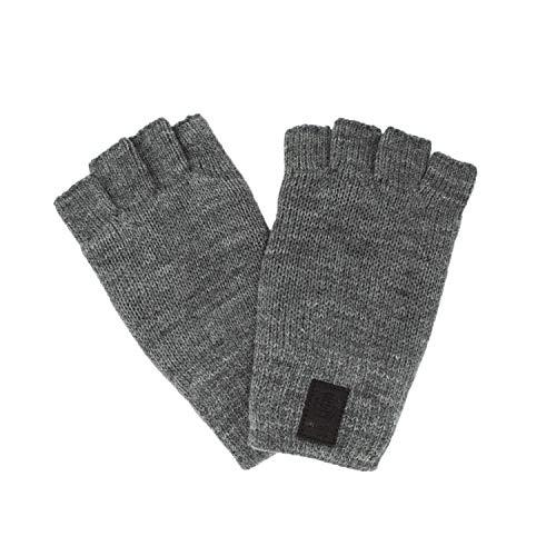 ONLY & SONS Handschuhe herren Clas No-finger Lined Knit Gloves 22007869 uni grau