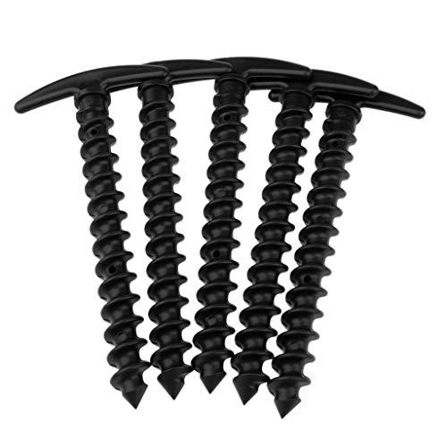 freneci Estacas Plásticas de La Tienda del Clavo de La Clavija de La Tienda de 5pcs / Pack 14.5cm para Acampar Al Aire Libre - Negro, Tal como se Describe
