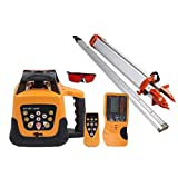 MuGuang Totally Automatic Self Leveling Red Beam Rotary Laser Level + 1.65 Aluminum