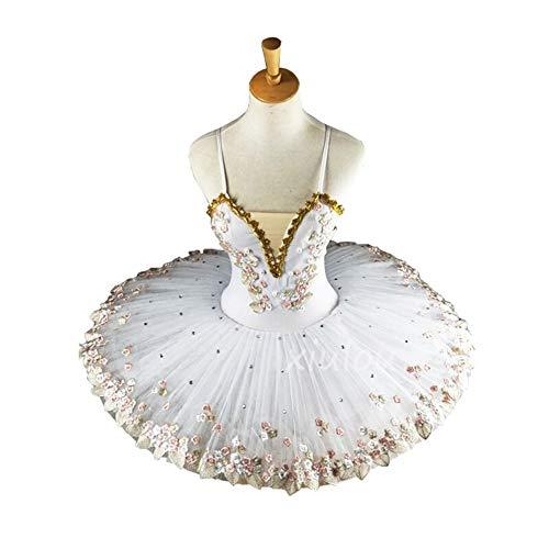 Augus Jacob Falda de Ballet Bailarina Profesional Blanca Tutú De Ballet For Niños Niños Niñas Adultos Panqueque Tutú Trajes De Baile Vestido De Ballet Niñas