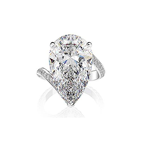 Anillo de diamantes SMEJS, anillo de diamantes completo, anillo S925, diamante con alto contenido de carbono, anillo de compromiso para mujer, regalo para joyería boutique de diamantes