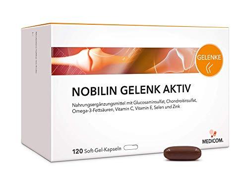 MEDICOM Nobilin Gelenk Aktiv Kapseln - Glucosaminsulfat, Chondroitinsulfat, Omega-3-Fettsäuren, Vitamin C, Vitamin E, Selen und Zink, 120 Kapseln, 2-Monatsvorrat