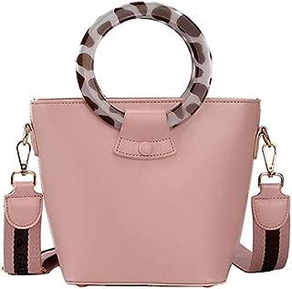 TOOGOO Ring Portable Bucket Bag Female Fashion Ladies Shoulder Bag Net Red Ocean Wideband Messenger Bag White