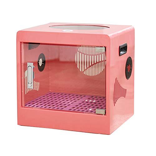 TWW Caja De Secado para Mascotas, Pelo para Perros, Pelo para Gatos, Secador De Pelo, Bolsa De Secado, Secador Doméstico con Secador De Pelo,Rosado
