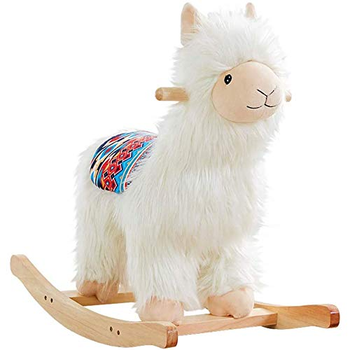 Fantastic Prices! SKR FSGHJJKN Wooden Horse Kids Toys, Kids Girls Boys Walking Pony Ride on Alpaca R...