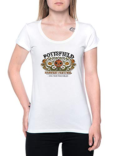 Pottsfield Harvest Festival Camiseta Mujer Blanco T-Shirt Women's White