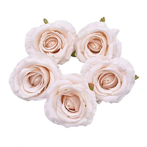 HETHYAN Artificial Cabeza de Flores de Seda Flor de Rose for la Boda decoración del hogar Falso Corona de Flores Álbum de Recortes...