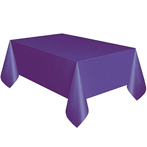 JackRuler Volltonfarbe Geburtstag Tischdecke Platz Einweg-Tischdecke Ideal - Leicht, Praktisch, Recycelbar -ideal für Party, Catering, Vereinsfeier, Geburtstag,Hochzeiten (Lila)
