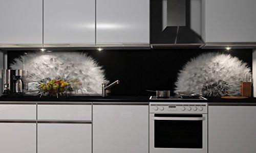 Küchenrückwand Folie selbstklebend Spritzschutz Fliesenspiegel Deko Küchenzeile Pusteblume | mehrere Größen