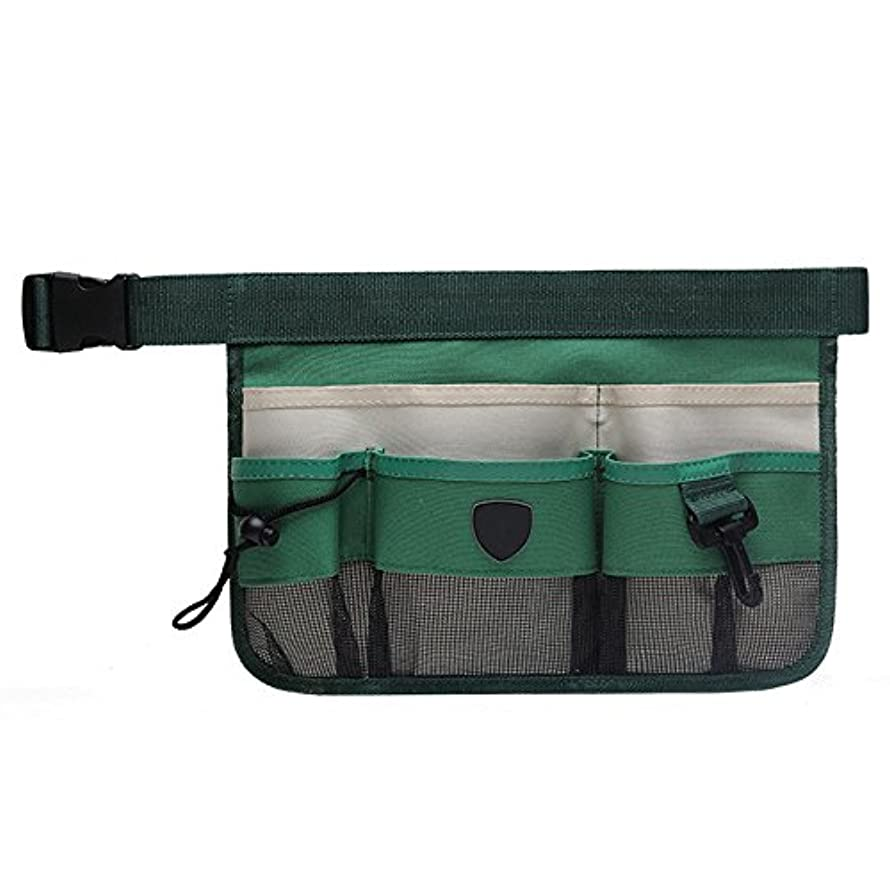 Firlar Gardening Tool Waist Bag, Heavy Duty Oxford Multi Pocket Garden Tools Belt Hanging Pouch for Organizing Tools (Green)