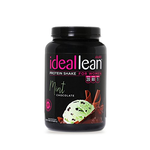 IdealLean - Nutritional Protein Powder for Women   20g Whey Protein Isolate   Supports Weight Loss   Healthy Low Carb Shakes with Folic Acid & Vitamin D   30 Servings (Chocolate Mint)