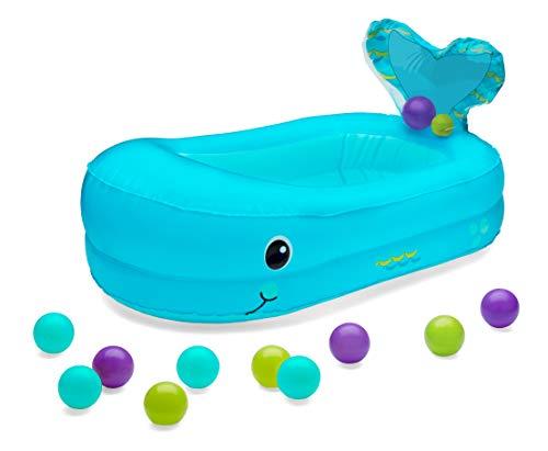 Infantino Baignoire gonflable baleine avec balles de jeu Bleu