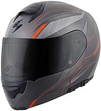 ScorpionExo EXO-GT3000 Sync Full Face Modular Helmet (Grey/Orange, Large)