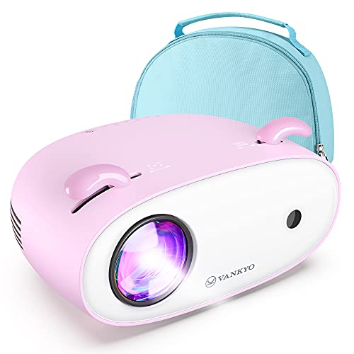 """VANKYΟ Mini Projector Portable 300""""LCD Projector for Video and Cartoons, Kids Gift, 1080P Supported Movie Projector for Bedroom, Home and Outdoor Use, 50,000Hrs LED Life with HDMI/USB Interfaces"""