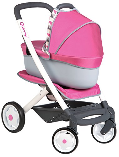 Smoby Maxi Cosi Bambola Wage Quinny 3 in 1, 7600253197