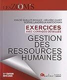 Gestion des ressources humaines - Exercices avec corrigés détaillés